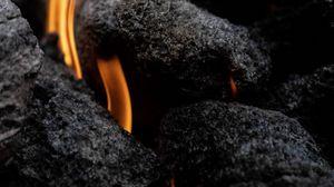 Превью обои огонь, пламя, угли
