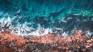 Превью обои океан, берег, вода, мэнли, австралия