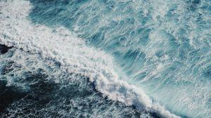 Превью обои океан, прибой, пена, море, вода