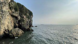 Превью обои океан, скала, камни, волны