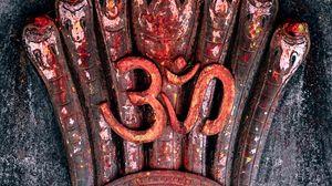 Превью обои ом, символ, сакральный, мантра, йога, медитация