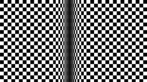 Превью обои оптическая иллюзия, иллюзия, чб, линии, кубы, движение