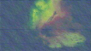 Превью обои оптическая иллюзия, разноцветный, поверхность, линии, свет