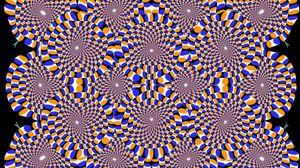 Превью обои оптическая иллюзия, вращение, погружение, круги