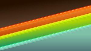 Превью обои оранжевый, голубой, зеленый, форма