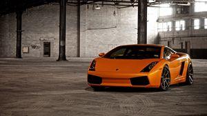 Превью обои оранжевый, стильный, авто, ламборджини