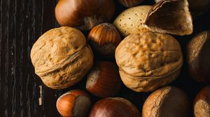 Превью обои орехи, фундук, грецкий орех