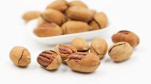 Превью обои орехи, пекан, скорлупа