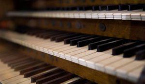 Превью обои орган, клавиши, музыкальный инструмент, музыка