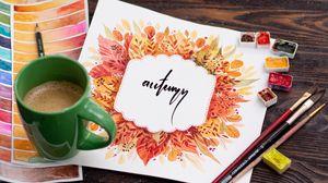 Превью обои осень, слово, леттеринг, арт