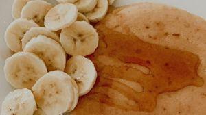 Превью обои панкейк, банан, мед, десерт