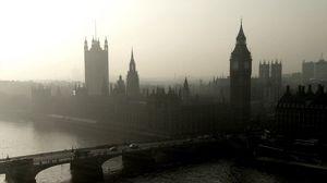 Превью обои панорама, город, лондон, вестминстерский дворец, мост, река, темза, башня, биг-бен