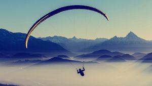 Превью обои параплан, небо, полет