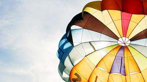 Превью обои парашют, адреналин, полет, небо, разноцветный
