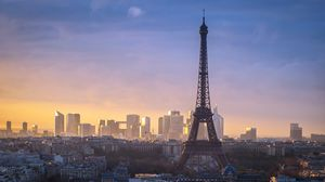 Превью обои париж, башня, город