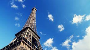 Превью обои париж, франция, эйфелева башня, небо, архитектура