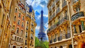 Превью обои париж, франция, здания, эйфелева башня