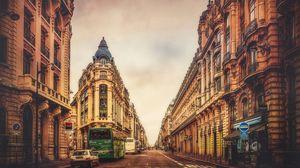 Превью обои париж, франция, здания, небо, улица