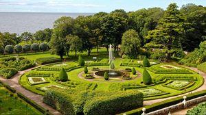 Превью обои парк, красиво, кусты, деревья, лето