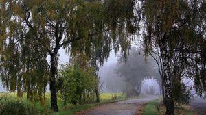 Превью обои парк, прогулка, трава, деревья