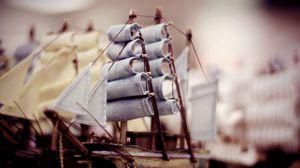 Превью обои паруса, судно, кораблик, корабль, деревянный, игрушк