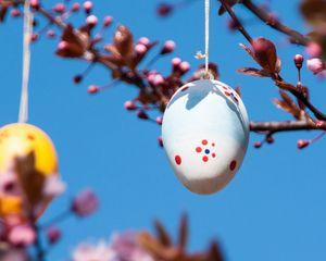 Превью обои пасха, яйцо, весна, праздник, украшение, ветки
