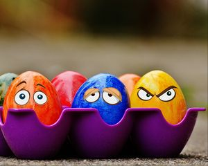 Превью обои пасха, яйца, глазки, эмоции