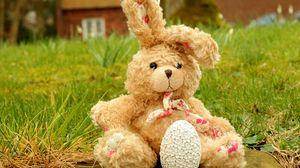 Превью обои пасха, яйцо, заяц, игрушка
