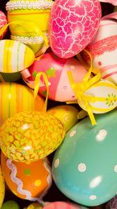 Превью обои пасхальные яйца, пасха, крашеные яйца, праздник