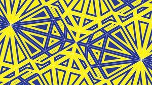 Превью обои паттерн, геометрия, линии, запутанный, желтый