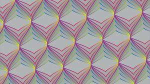 Превью обои паттерн, оптическая иллюзия, объем, разноцветный, текстура
