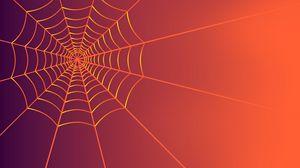 Превью обои паутина, арт, линии, сплетение