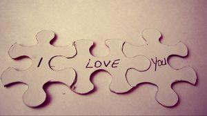 Превью обои пазл, любовь, составляющие, макро