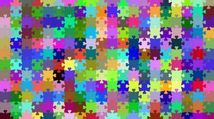 Превью обои пазл, мозаика, головоломка, узоры, разноцветный