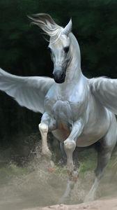 Превью обои пегас, конь, крылья