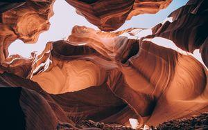 Превью обои каньон, пещера, песчаник