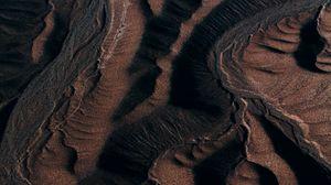 Превью обои песок, дюны, рельеф, темный