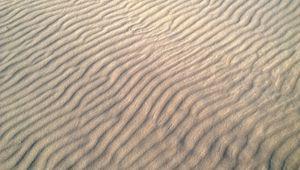 Превью обои песок, пустыня, волны, рельеф, текстура