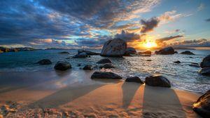 Превью обои песок, тень, небо, природа