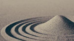 Превью обои песок, волны, макро, круги