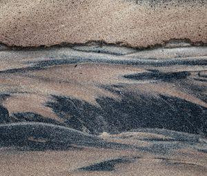 Превью обои песок, волны, разводы, смешивание, текстура