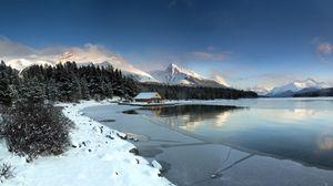 Превью обои пейзаж, горы, озеро
