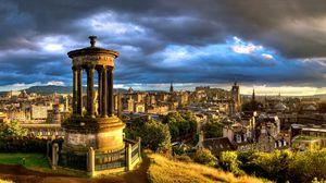 Превью обои пейзаж, старинный, город, каменный, здания