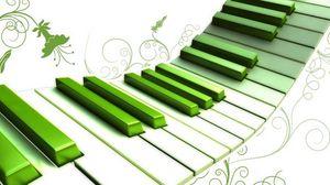 Превью обои пианино, клавиши, красочный, узор