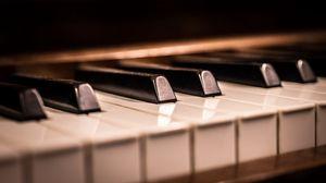 Превью обои пианино, клавиши, макро, рояль