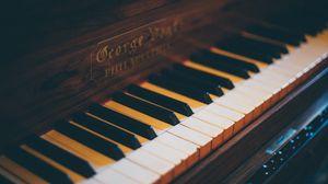 Превью обои пианино, клавиши, музыкальный инструмент, размытость