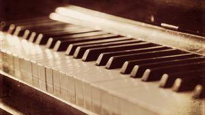 Превью обои пианино, музыка, фон, стиль