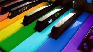 Превью обои пианино, разноцветный, клавиши