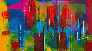 Превью обои пятна, краска, разноцветный, абстрактный, хаотичный