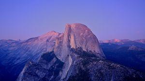 Превью обои пик, скала, утес, калифорния, сумерки, гора